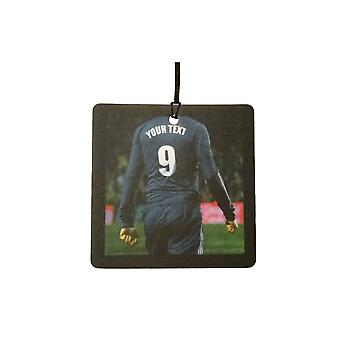 Custom Football / Soccer Player (All Black) Car Air Freshener
