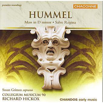 J.N. Hummel - Hummel: Misa en re menor; Salve Regina [CD] USA importar