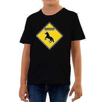 Reality glitch caution unicorns kids t-shirt