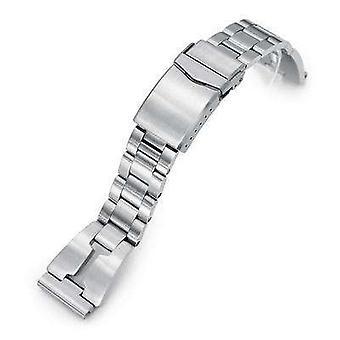 Strapcode Uhr Armband Neuauflage 22mm retro Rasierer 316l Edelstahl gerade Ende Uhr Band, V-Verschluss-Taste Doppelschloss