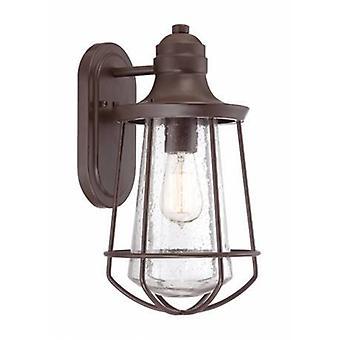 1 Lanterna de parede ao ar livre leve Oeste Bronze Ip44, E27
