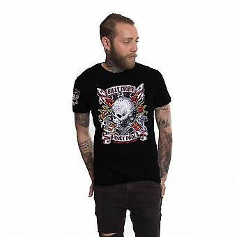 Billy eight - inky fool - mens t-shirt - black