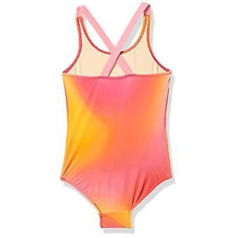 أساسيات طفل فتاة & apos;ق ملابس السباحة قطعة واحدة, أومبري بينك, 3T