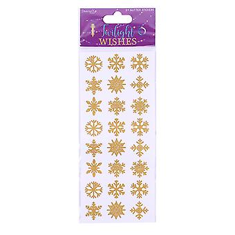 Dovecraft Twilight Wishes Glitter Snowflake Stickers (24pcs) (DCSTK085X19)