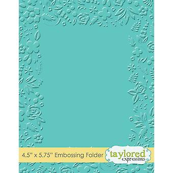 Taylored Expressions Garden Party Embossing Folder