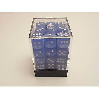Chessex 12mm D6 Block - Frosted Blue/white