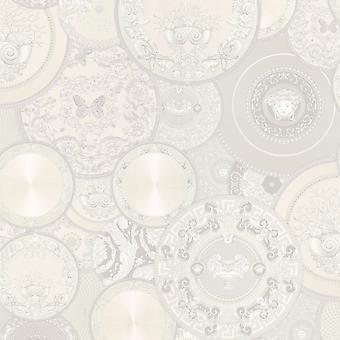 Versace Les Etoiles De la Mer Dish Wallpaper - White 34901-4 - 10m x 70cm