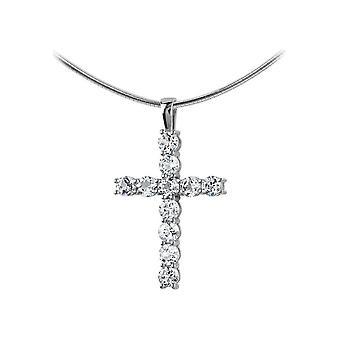 Jacques Lemans - Sterling Silver Halsband med Vit Topaz - SE-C103A