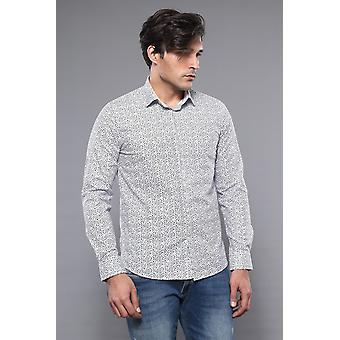 Slim fit patterned shirt | wessi