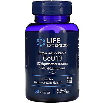 Prolongation de la durée de vie utile, CoQ10 super-absorbable, 100 mg, 60 Softgels