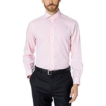 BUTTONED DOWN Men's Classic Fit Cutaway Collar Solid Non-Iron Dress Shirt, Li...