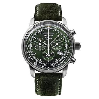 Zeppelin 8680-4 100 Years Green Dial Chronograph Wristwatch