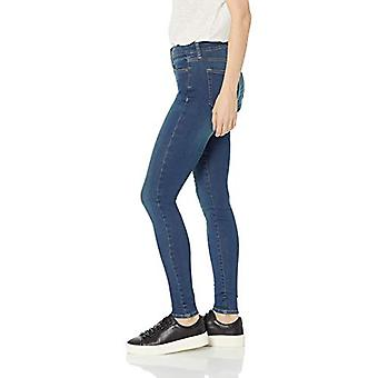 Brand - Daily Ritual Women's Mid-Rise Skinny Jean, Mid-Blue, 25 (0) Long
