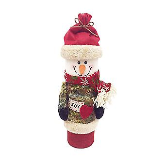 Christmas Wine Box Sweater Wine Bottle Snowman Design
