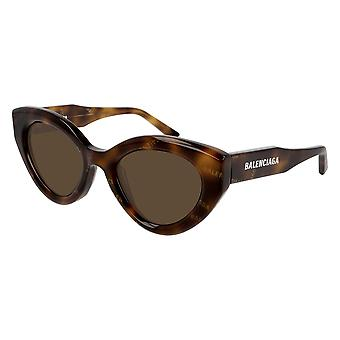 Balenciaga BB0073S 002 Havana/Brown Sunglasses
