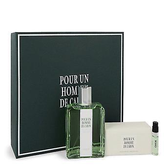 Caron Pour Homme Gift Set By Caron 4.2 oz Eau De Toilette Spray + 3.3 oz Soap + .06 oz Vial (sample)