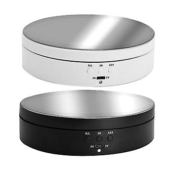 3 Speeds Electric Rotating Display Stand- Mirror 360 Degree Turntable Jewelry