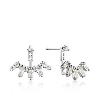Ania Haie Sterling Silver Rhodium Plated Cluster Ear Jacket Earrings E018-13H
