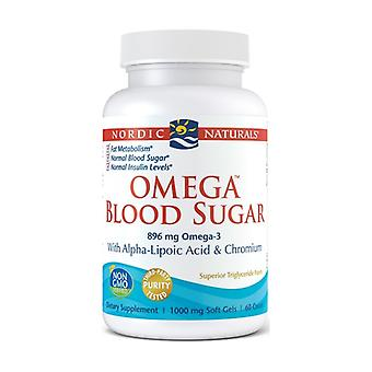 Omega Blood Sugar, 896mg 60 softgels