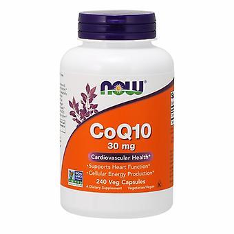 """Now Foods CoQ10, 30 מ""""ג, 240 כמוסות צמחיות"""