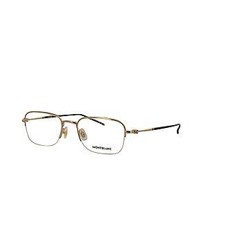 Montblanc MB0131O 002 Gold Glasses