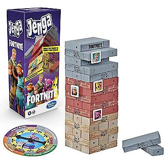 Hasbro gaming jenga-fortnite edition game, wooden block stacking tower game for