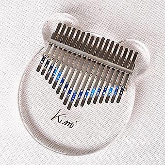 كيمي كاليمبا 17 مفاتيح الإبهام بيانو شفافة، آلة لوحة المفاتيح الموسيقية،