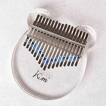 Kimi Kalimba 17 Touches Thumb Piano Transparent, Instrument de clavier musical,