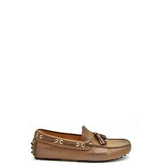 Car Shoe Ezbc029034 Men's Brown Leather Loafers