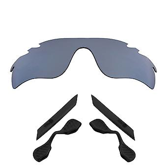 Polarized Replacement Lenses Kit for Oakley Vented Radarlock Path Silver Black Anti-Scratch Anti-Glare UV400 SeekOptics