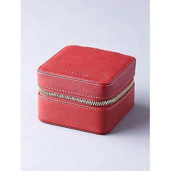 Scatola di gioielli in pelle Wray in rosso