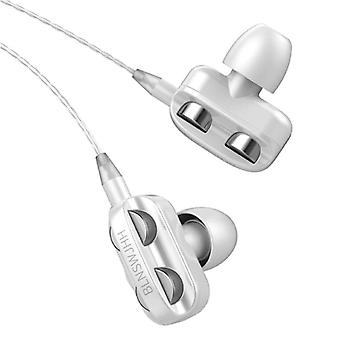 Bluelans Dual Driver Earphones AUX 3.5mm - Earphones Wired Earphones Earphone White