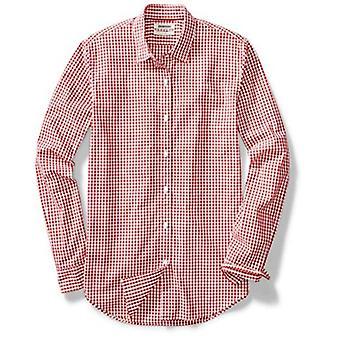 Goodthreads Men's Standard-Fit Langarm Gingham Plaid Poplin Shirt, blau/B...