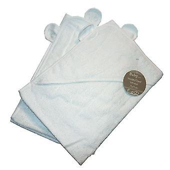 2 x hupullinen pyyhe Lasten halaus kylpytakki Pyyhe tavallinen valkoinen korvat 75 x 75 cm