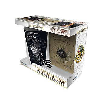 Harry Potter Glass Pin and Pocket Notebook Marauders Map new Official Gift Set