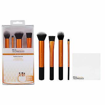 Echte technieken vlekkeloze Base Make-up Brush Set, 4pc