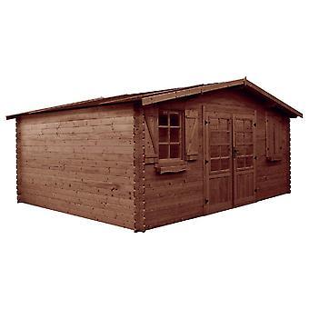 Caseta para jardín de madera tratado en autoclave - 22.80 m² - 5.26 x 4.32 x 2.46 m - 28 mm