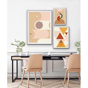 Palm Springs - Mismatched Size Prints Geometric Bold Wall Art Prints
