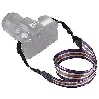 PULUZ Stripe Style  Series Shoulder Neck Strap Camera Strap for SLR / DSLR Cameras(Purple)