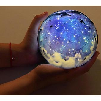 Projector Earth Universe Led Lamp Colorful Rotate Flashing Star Kids Baby