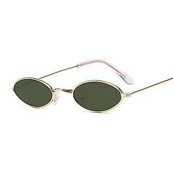 صغير الإطار الأسود ظلال النظارات الشمسية الجولة، مصمم خمر أزياء النظارات الشمسية
