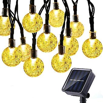 Led Crystal Shaped Ball Lights With Solar Panel For Garden And Christmas
