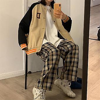 Femme Automne Jambe large Coréen Style Pantalon à la taille haute à vérifier