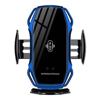 FLOVEME 10W Wireless Qi Car Charger - Airvent Clip Charger Universal Wireless Car Charging Pad Blue