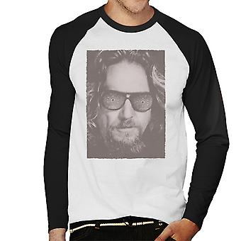 Iso Lebowski The Dude Face Carpet Shades Nostalgia Men's Baseball Pitkähihainen T-paita