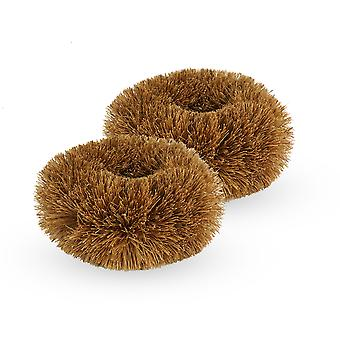 Coconut Cleaning Scourers - Pack of 2 | M&W