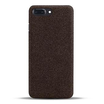 Einzelne stoßfeste Stoff Schutzhülle für Apple iPhone 7 Plus / 8 Plus braun