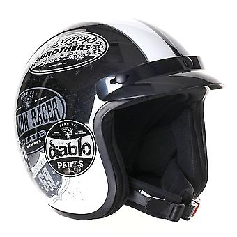Stealth HD320 Mono Adult Open Face Helmet - Black