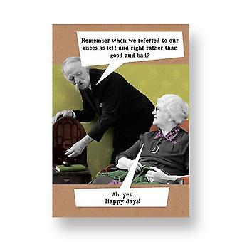 Pigment Riff Raff - Good & Bad Knees - Birthday Card Rw1023a