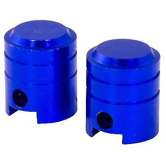 Bike It Small Piston Valve Caps - Blue